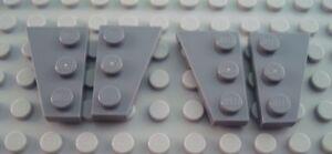 New LEGO Lot of 4 Dark Bluish Gray 4x2 Star Wars Wedge Wing Plates
