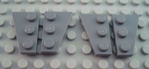 New LEGO Lot of 2 Pair of Dark Bluish Gray 3x2 Wedge Plate Pieces