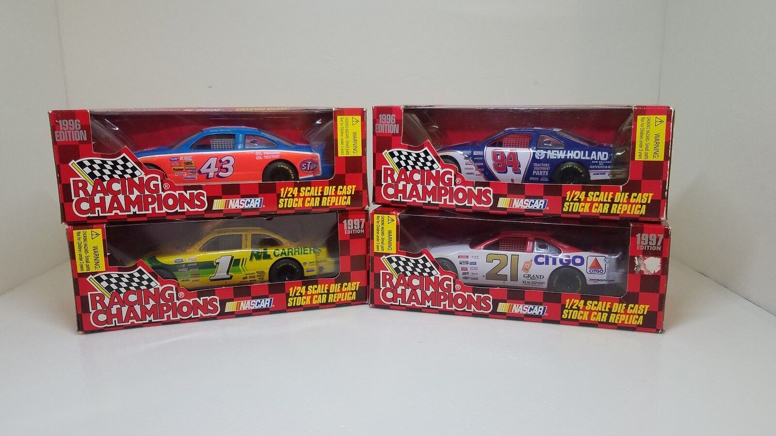 LOT 4 Racing Champions 1 24 Die Cast Stock Car Replicas Nascar  1  21  43  94