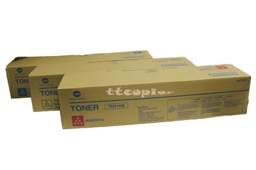 TN314C TN314M TN314Y Genuine Konica Minolta bizhub C353 COLOR Toner SET