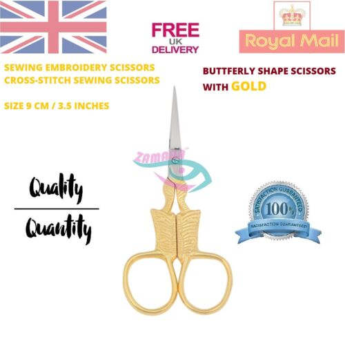 Butterfly Embroidery Scissors Gold Embroidery Scissors 9.5 cm Sharp Point