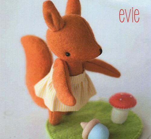 Evie Ardilla Costura Artesanía patrón-Peluche bellota Matamoscas Woodland
