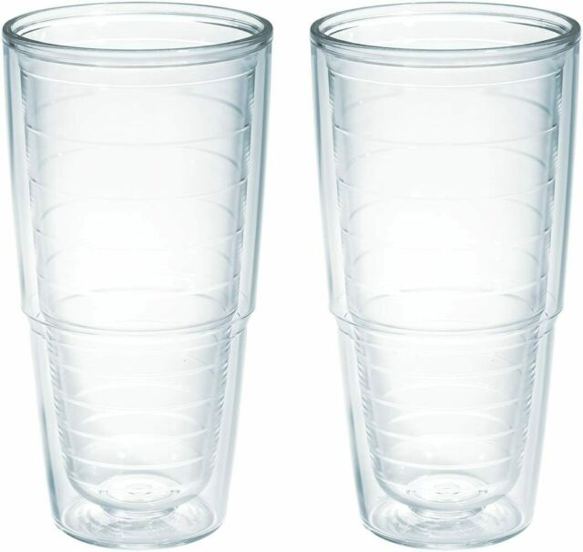 Tervis Clear /& Colorful Insulated Tumbler 16oz-2pk Tritan Clear