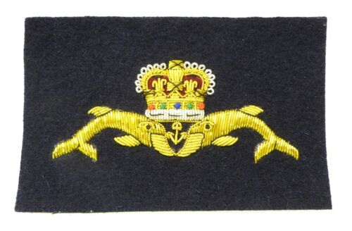 Royal Navy Submariners Deluxe Blazer Badge 2 Types Available