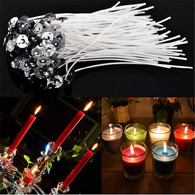 100PCS Candle Wicks 3/9/10/15/ 20cm COTTON Core Candle Making Supplies Pretabbed