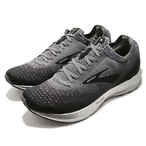 Brooks-Levitate-2-Black-Grey-Ebony-Silver-Men-Running-Shoes-Sneakers-110290-1D