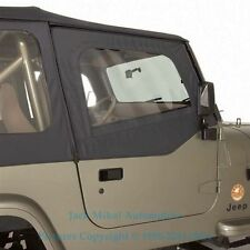 88 95 Replacement Soft Top Upper Doors For Jeep Wrangler Tinted Windows Fits 1994 Jeep Wrangler