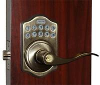 E-Digital E-985 Electronic Digital Lever Keyless Lock (Antique Brass) Building Supplies