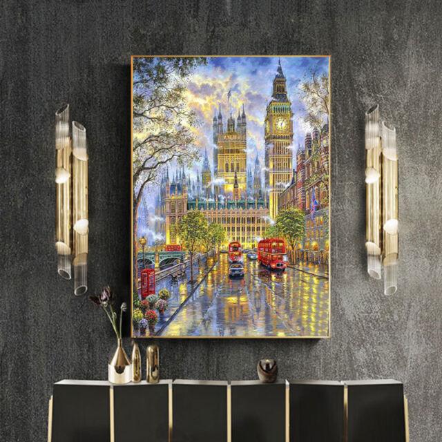 Diamond Embroidery London Church 5D DIY Painting Cross Stitch Crystal Home Decor