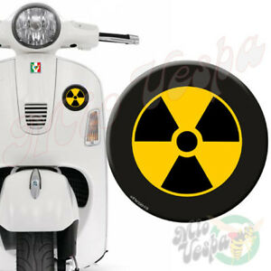 Round RadioActive 3D Decal sticker for Vespa GTS GTV GT 125 250 300 50 ET PX LX
