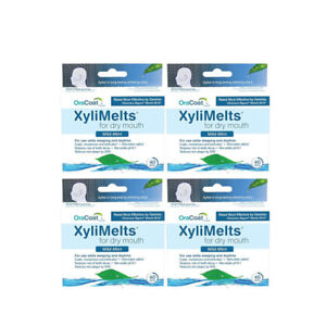 4-Pack-OraCoat-XyliMelts-Mild-Mint-for-Dry-Mouth-40-Discs-Each