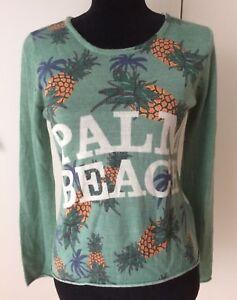 Pullover-Pulli-abby-s-by-goodlife-PALM-BEACH-Impression-Gr-S-36-wie-neu-Np149