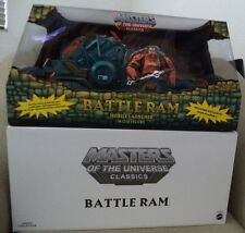 MASTERS OF THE UNIVERSE CLASSICS BATTLE RAM MOBILE LAUNCHER W/ MAN-AT-ARMS *NU