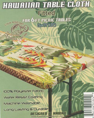 """Picnic 72 x30/"""" centre de table pliante Hawaiian Ajustée Nappe Luau Fête 6 Ft environ 1.83 m"""