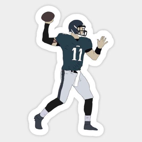 Philadelphia Eagles Football Carson Wentz 11 Vinyl Decal Laptop Bumper Sticker
