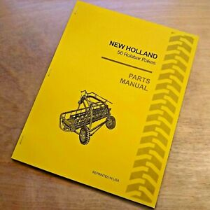 New Holland 256 Rake Parts Manual Catalog
