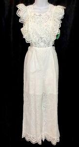 41882a76e2c Image is loading Nightcap-Clothing-Jumpsuit-White-Eyelet-Sleeveless-Nwt-396-