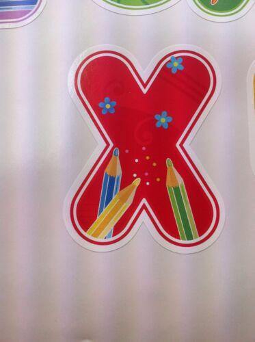 Full alphabet crayon classe nursery enfant chambre vinyle mur art autocollant