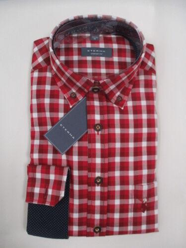 Eterna Comfort Fit 2275 55 e214 Trachtenhemd Rouge-Blanc à Carreaux fcjsec 65