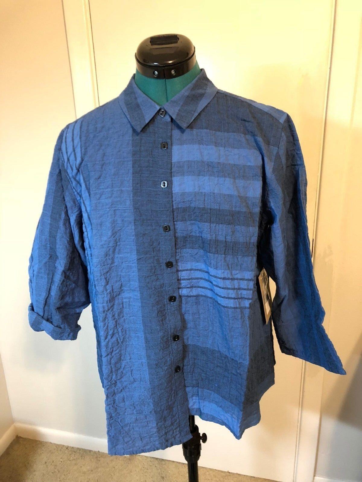 Habitat Evening Blau striped shirt.Größe L.NWT.