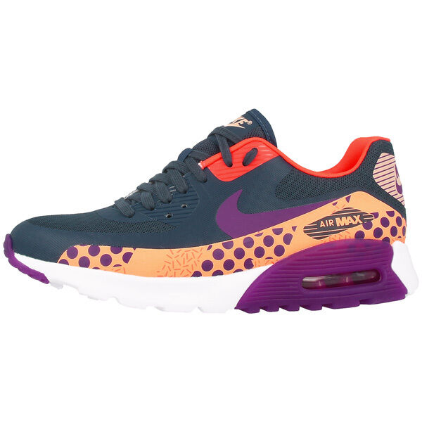 NIKE AIR MAX 90 ULTRA BREEZE PRINT WOMEN SCHUHE SNEAKER 807352-400 Blau PURPLE