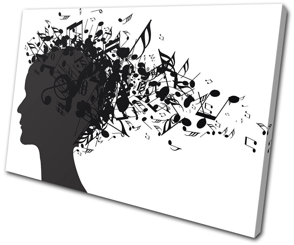 Canvas Art Picture Print Decorative Photo Musical Notes Gift minimalist