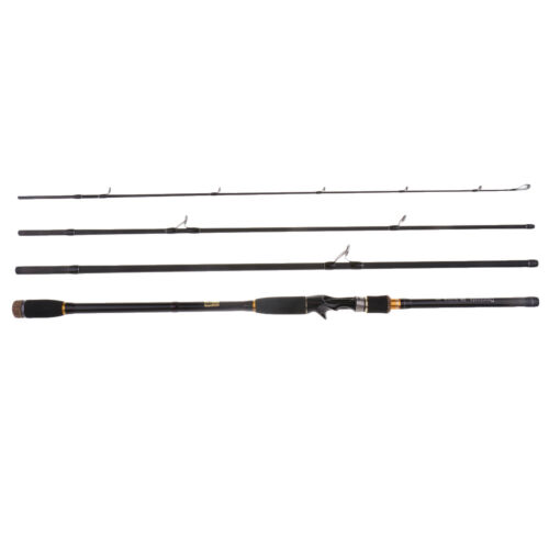 4 Sections Carbon Fiber Baitcast Surf Casting Rod Travel Fishing Pole 10 FT