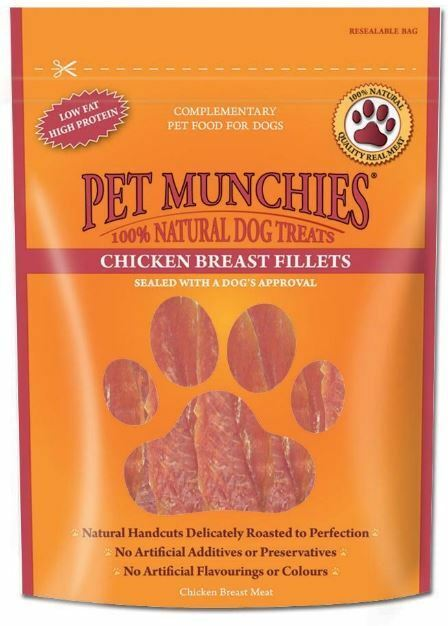 Pet Munchies 100% Natural Dog Treats - Chicken Breast Fillet - 100g