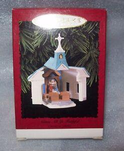 1996-HALLMARK-KEEPSAKE-CHRISTMAS-TREE-ORNAMENT-COME-ALL-YE-FAITHFUL-IN-BOX