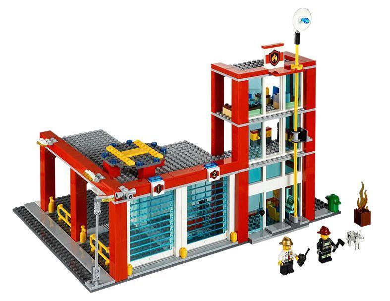 LEGO ® City 60004 pompiers-quartier général neuf emballage d'origine d'origine d'origine _ fire station New MISB NRFB 121281