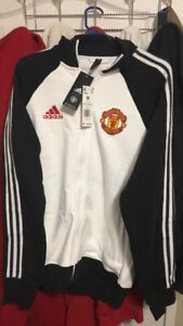Adidas 2020-21 Manchester United Icons Top Men's Medium Track Jacket New $90