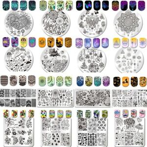 Born-Pretty-Nail-Art-Stamping-Plates-Round-Square-Image-Stamp-Template