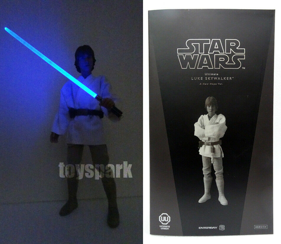 Medicom x Enterbay RAH STAR WARS LUKE SKYWALKER 1 6 action figure with LED SABER