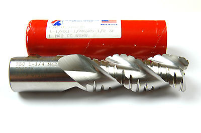 E-2-13-5-2 1-1//4 X 1-1//4 X 3 X 5-1//2 M42 MOD FORM RIGHT HAND ROUGHING END MILL