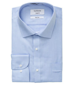 NEW-Van-Heusen-Light-Blue-Nail-Head-Business-Shirt