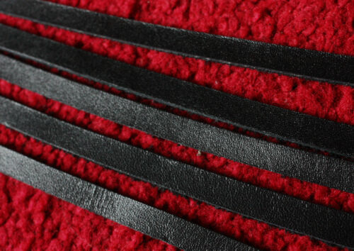 200 cm long 3,4,5,6,7,8,9,10 mm BLACK LEATHER STRIP FLAT CORD LACE 2 mm thick