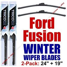 2006-2012 Ford Fusion WINTER Wipers 2-Pack Super-Premium Beam Blades 35240/35190