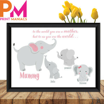 Personalised Mothers Day TO THE WORLD Gift MUM MUMMY HER new born GRANNY NANNY