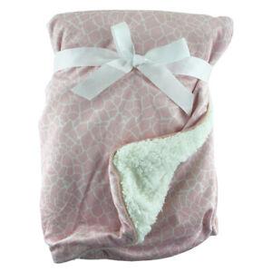 Pink-Turtle-Shell-Print-Sherpa-Fleece-Baby-Crib-Pram-Moses-Blanket-75-x-100cm