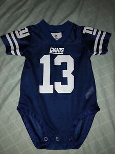premium selection 27593 77b48 Details about Infant Baby NY Giants OBJ Beckham Jr. NFL Football Jersey  Onsie 12 Months EUC