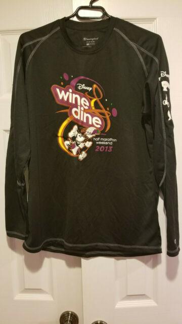 2019 RunDisney WDW Wine And Dine Marathon Spirit Jersey Tee Adult LARGE