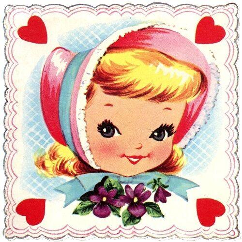 30 Custom Classic Valentine Girl Personalized Address Labels