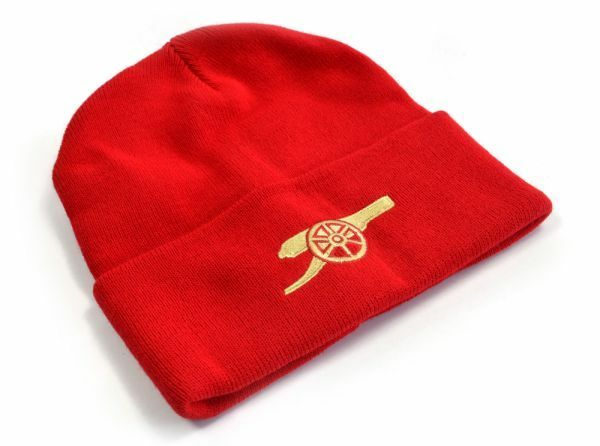 Official ARSENAL F.C Knitted Cuff Winter Hat Red Cannon Ideal Gift For Fan 4f7c5036fa2