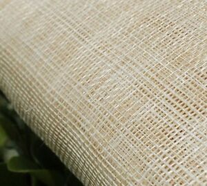 Image is loading Sinamay-Fabric-Natural-Unbleached-Unstiffened ea2cee68f8f