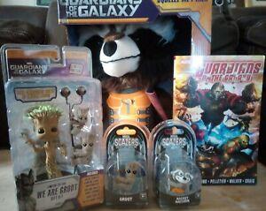 Neca GUARDIANS OF THE GALAXY Set 5 SCALERS Groot Rocket Star-lord Drax Gamora