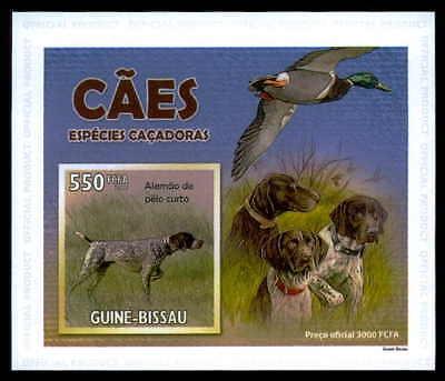 Guinea-bissau Epreuve De Luxe Jagdhunde Hund Ente Dogs Ducks Deluxe Sheet Dr29