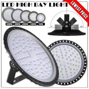 LED High Bay Lights 500W 300W 200W 100W 50W Warehouse Led Shop Light Fixture UFO