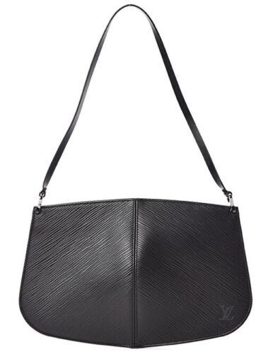 LOUIS VUITTON Black Epi Leather Demi-Lune Pochette