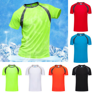 Men-039-s-T-Shirts-Tops-Sports-Quick-Dry-Shirt-Athletic-Running-Casual-Tee-Blouse
