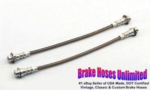 FRONT-STAINLESS-BRAKE-HOSES-Chevrolet-Chevelle-1968-Disc